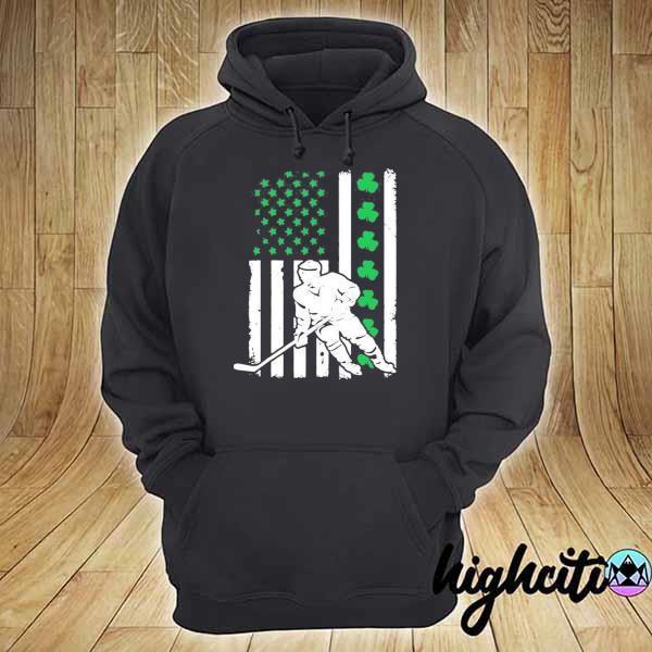 Irish American Flag Lucky Hockey St. Patrick's Day Shirt hoodie