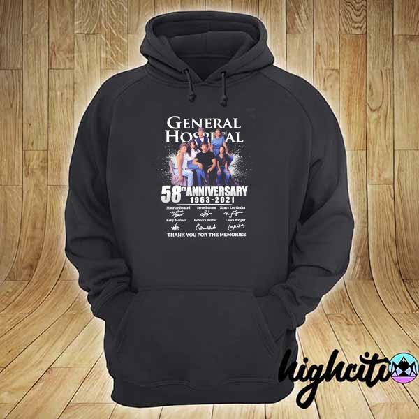 2021 general hospital 58th anniversary 1963 - 2021 signatures maurice benard thank you for the memories hoodie