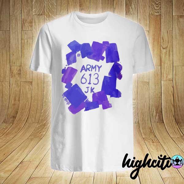 Army 613 JK on his Shirt