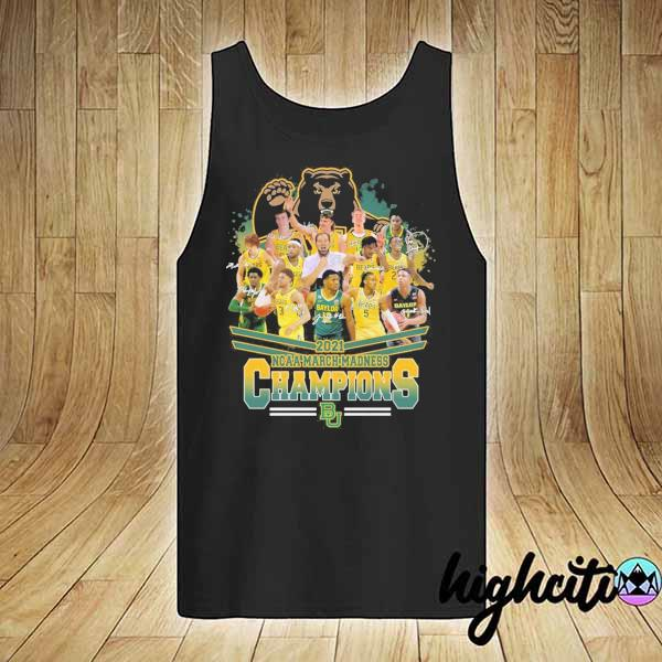 Awesome 2021 ncaa march madness champions signatures tank-top