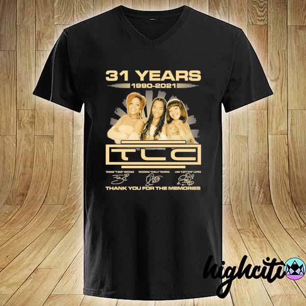 Awesome 31 years 1990 - 2021 tcl signatures thank you for the memories V-neck