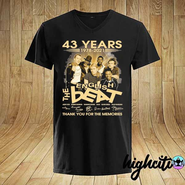 Awesome 43 years 1978 - 2021 english the beat andy cow everett morton signature thank you for the memories shirt