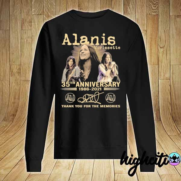 Awesome alanis morissette 35th anniversary 1986 - 2021 signature thank you for the memories Sweater
