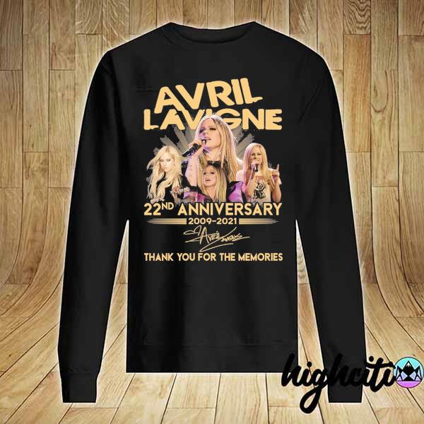 Awesome avril lavigne 22nd anniversary 2009 - 2021 signature thank you for the memories Sweater