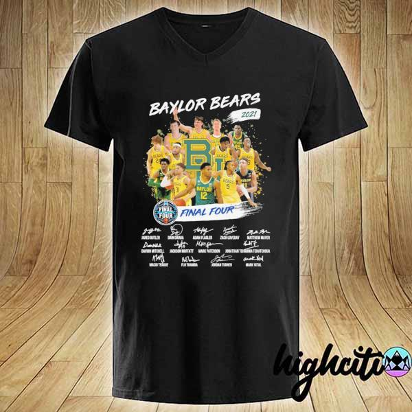 Awesome baylor bears 2021 final four jared butler dain dainja signatures V-neck