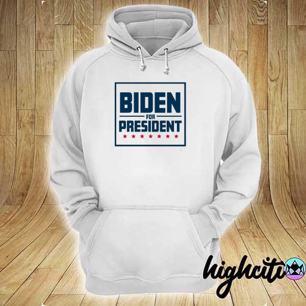 Awesome biden for president 2020 with red stars toddler hoodie