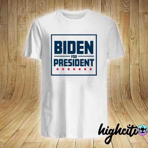 Awesome biden for president 2020 with red stars toddler shirt
