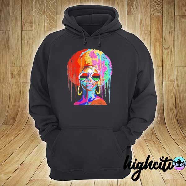 Awesome black queen afro melanin art hoodie
