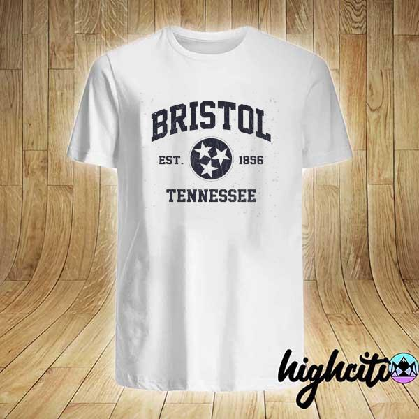 Awesome bristol tennessee tn vintage state athletic shirt