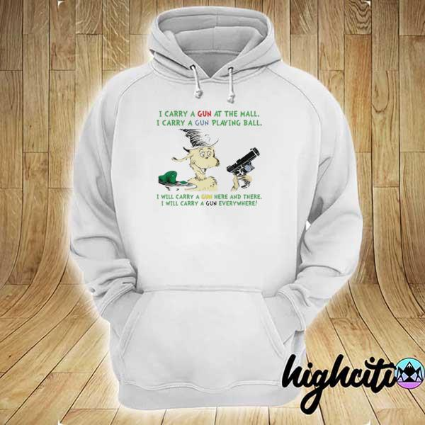 Awesome dr seuss i carry a gun at the mall i carry a gun playing ball hoodie