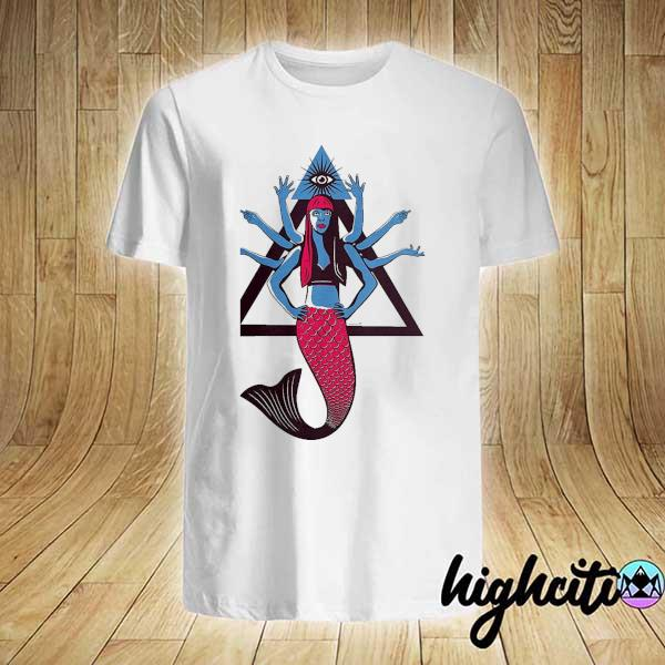 Awesome et 8 arms hindu mermaid shirt