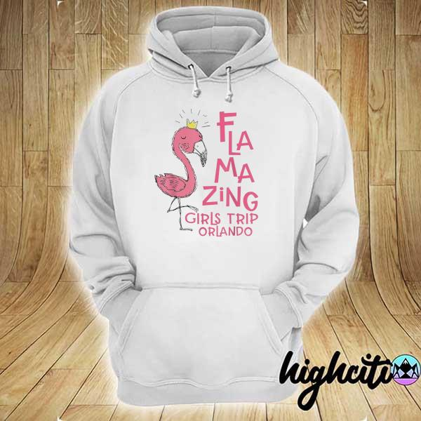 Awesome flamazing girls trip orlando flamingo beach vacation hoodie