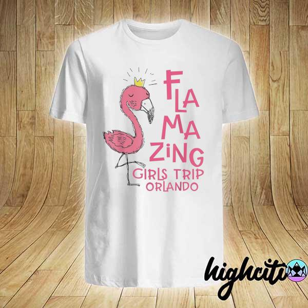 Awesome flamazing girls trip orlando flamingo beach vacation shirt