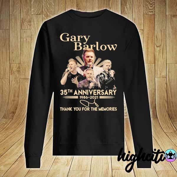 Awesome gary barlow 35th anniversary 1986 - 2021 thank you for the memories Sweater