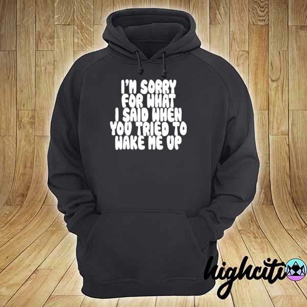 Awesome i'm sorry for what i said when you tried to wake me up hoodie