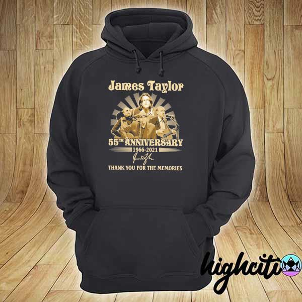 Awesome james taylor 50th anniversary 1966 - 2021 signatures thank you for the memories hoodie
