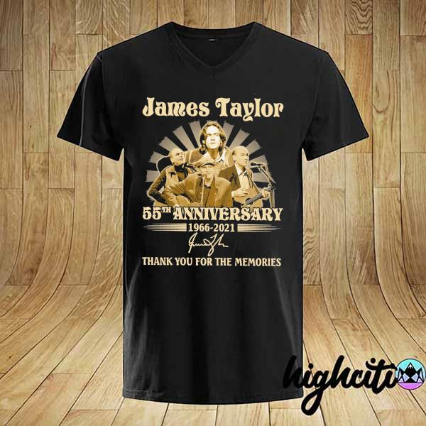 Awesome james taylor 50th anniversary 1966 - 2021 signatures thank you for the memories shirt