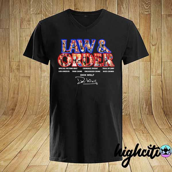 Awesome jaw & order special victims unit criminal intent trial by jury signaute shirt