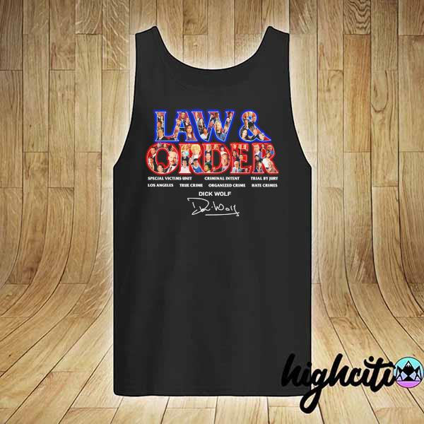 Awesome jaw & order special victims unit criminal intent trial by jury signaute tank-top