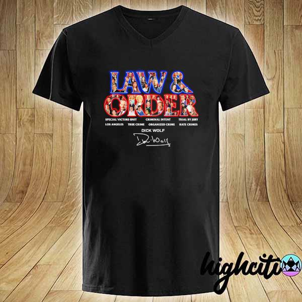 Awesome jaw & order special victims unit criminal intent trial by jury signaute V-neck