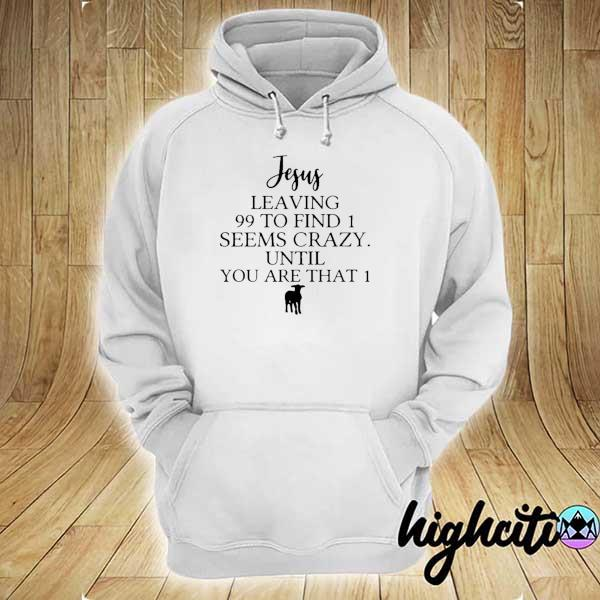 Awesome jesus leaving 99 to find 1 seems crazy until you are that 1 hoodie