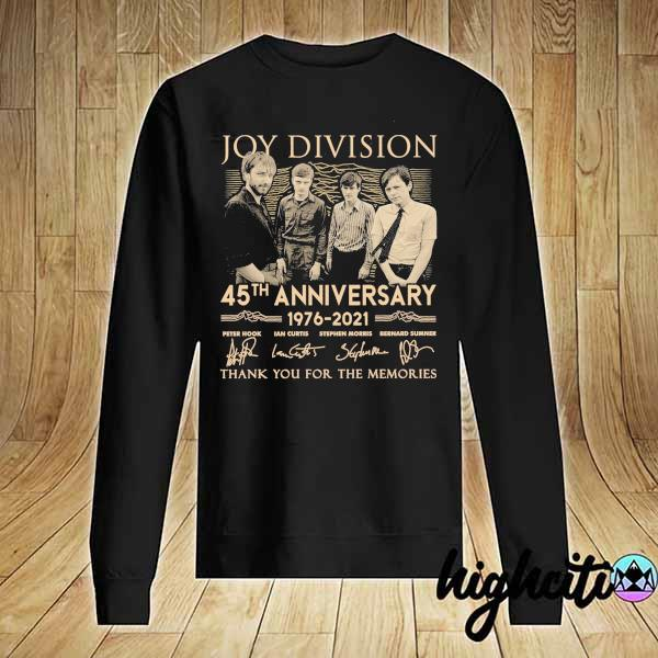 Awesome joy division 45th anniversary 1976 - 2021 peter hook ian curtis signatures thank you for the memories Sweater