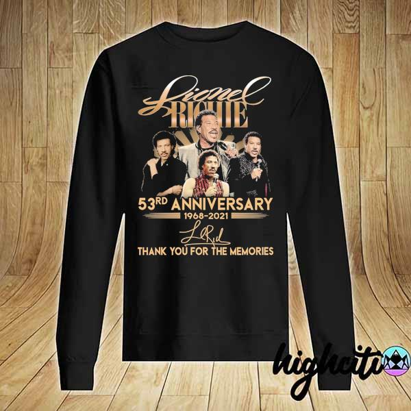 Awesome lionel richie 58rd anniversary 1968 - 2021 signature thank you for the memories Sweater