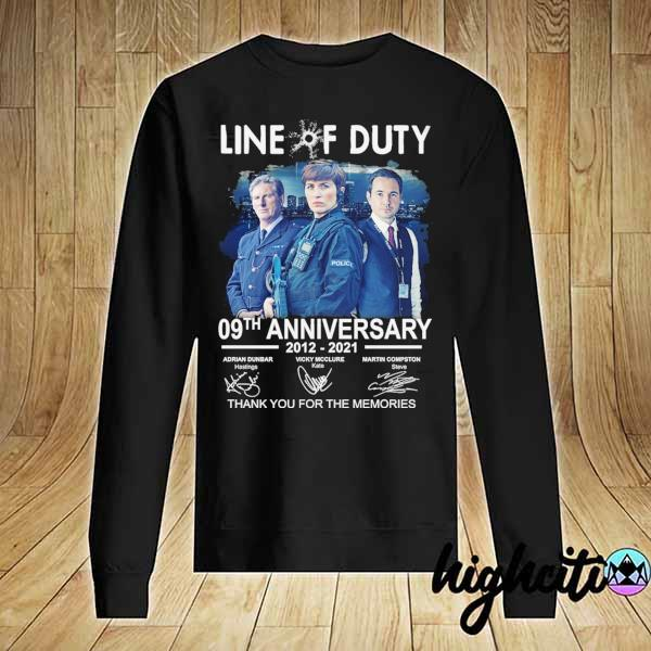 Awesome live of duty 09th anniversary 2021 - 2021 adrian dunbar vicky mcclure martin compston signatures thank you for the memories Sweater