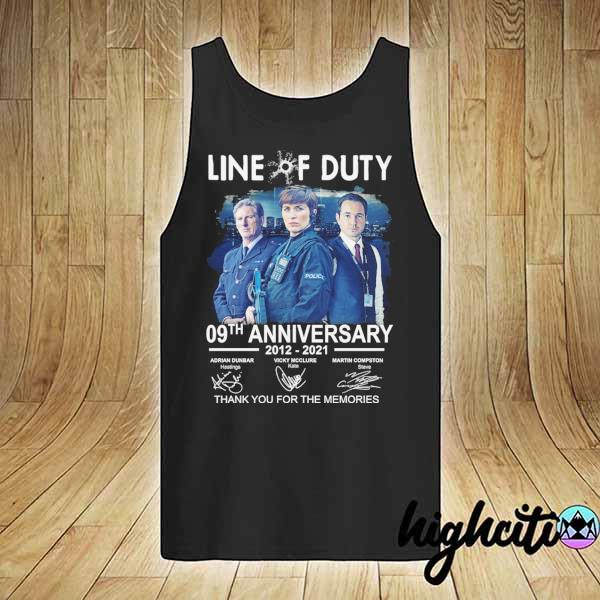Awesome live of duty 09th anniversary 2021 - 2021 adrian dunbar vicky mcclure martin compston signatures thank you for the memories tank-top
