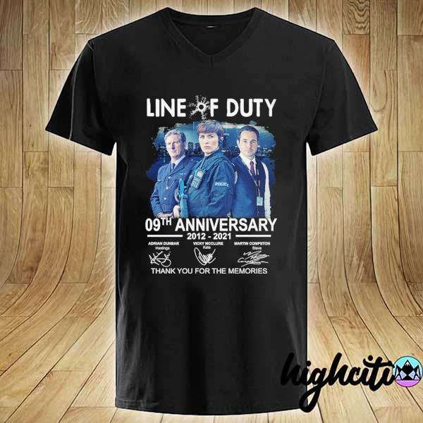 Awesome live of duty 09th anniversary 2021 - 2021 adrian dunbar vicky mcclure martin compston signatures thank you for the memories V-neck