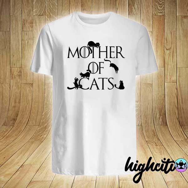 Awesome mother of cats game of thrones shirt