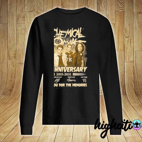 Awesome my chemical romance 20th anniversary 2001 - 2021 signatures thank you for the memories Sweater
