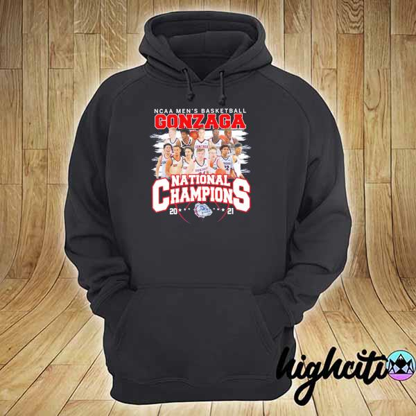 Awesome ncaa men's basketball gonzaga national champions 2021 hoodie