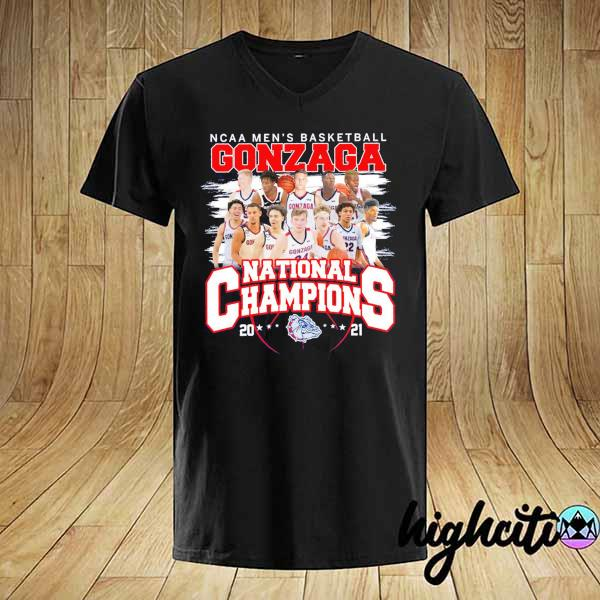 Awesome ncaa men's basketball gonzaga national champions 2021 shirt