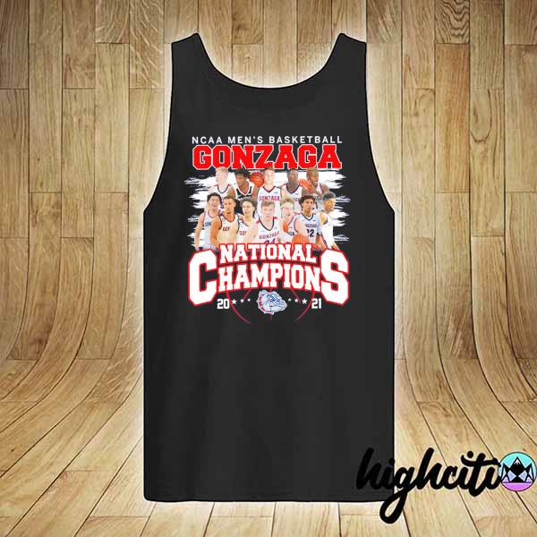 Awesome ncaa men's basketball gonzaga national champions 2021 tank-top