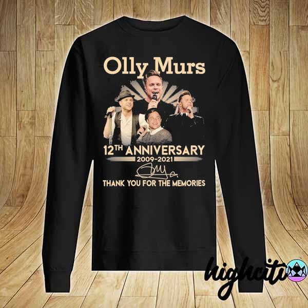 Awesome olly murs 12th anniversary 2009 - 2021 signature thank you for the memories Sweater