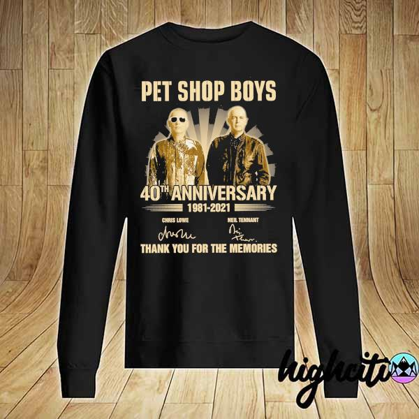 Awesome pet ship boys 40th anniversary 1981 - 2021 chris lowe neil tennant signatures thank you for the memories Sweater