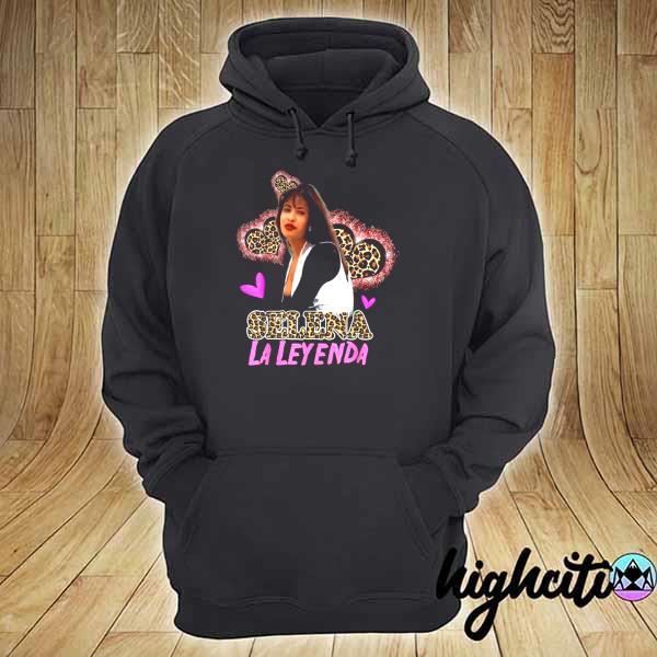 Awesome selenas quintanilla leopard love retro music hoodie