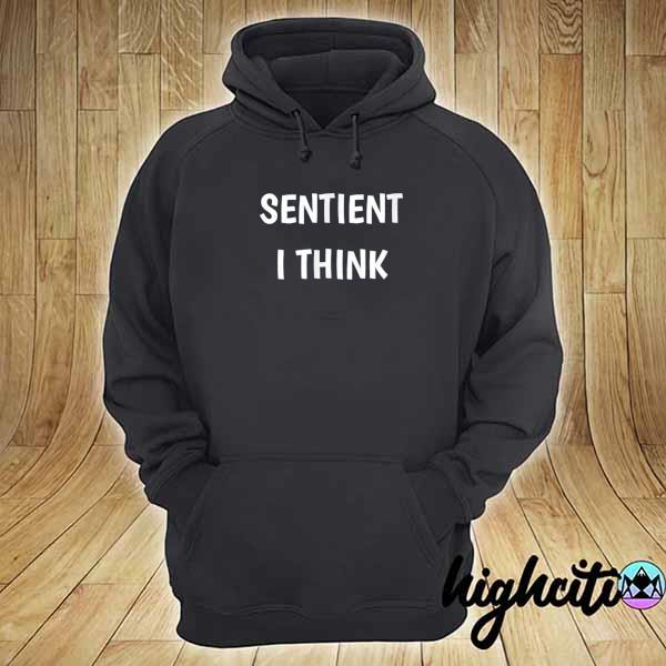 Awesome sentient i think funny saying perceive feel hoodie