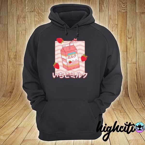 Awesome strawberry milk cute milk hoodie