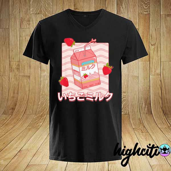 Awesome strawberry milk cute milk shirt