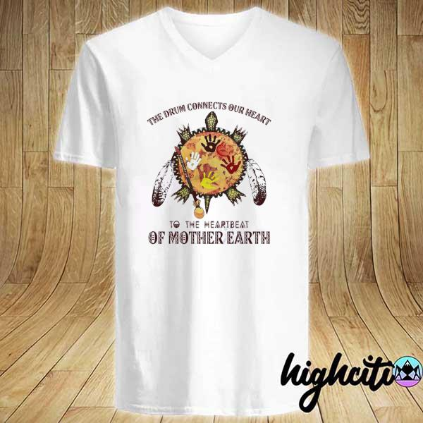 Awesome the drum connects our heart to the heartbeat of mother earth V-neck