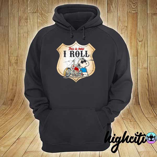 Awesome this is how i roll police motorcycle snoopy hoodie