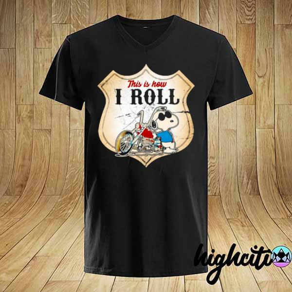 Awesome this is how i roll police motorcycle snoopy shirt