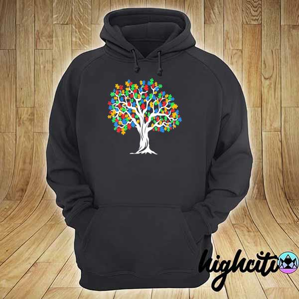 Awesome tree of life autism awareness month funny asd supporter gift hoodie