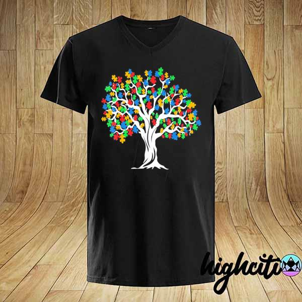 Awesome tree of life autism awareness month funny asd supporter gift shirt
