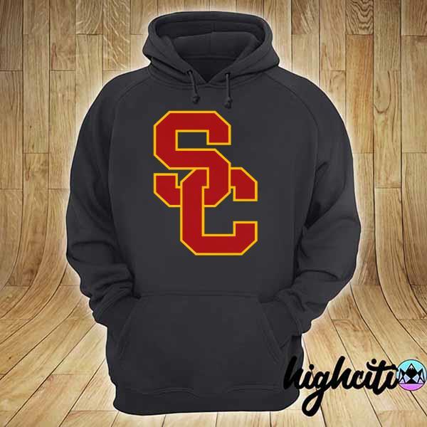 Awesome university of southern california ncaa usc lockup logo hoodie