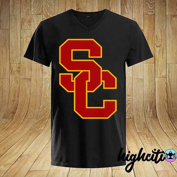 Awesome university of southern california ncaa usc lockup logo shirt