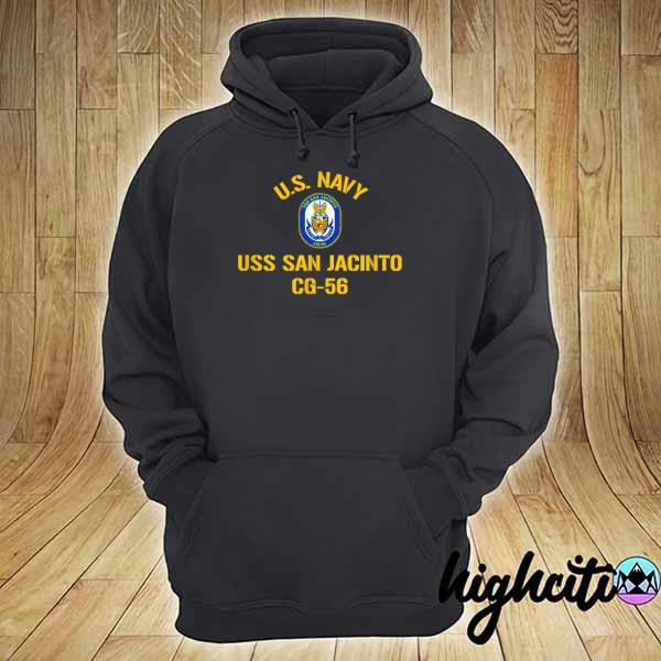 Awesome us navy uss san jacinto cg 56 hoodie
