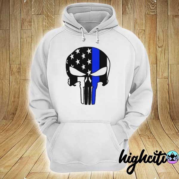 Awesome us police flag thin blue line hoodie